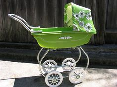 Vintage early 1970s doll stroller avocado green  Boy, avocado green was popular in the seventies