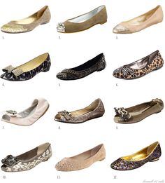 Because flats are understated in comparison to heels, I love pairs adorned with sequins, covered in prints, embellished with jewels, and any other component of pizazz that will bring the shoe to life.