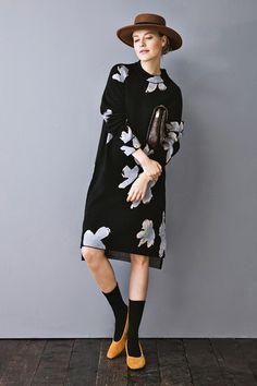 Full Floral Knit Dress DR0553