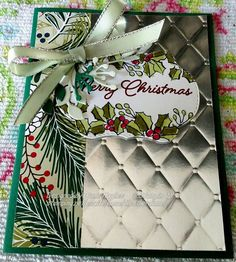 Blended seasons from Diane Ingalls Hughes Christmas Cards 2017, Create Christmas Cards, Stamped Christmas Cards, Christmas Paper Crafts, Noel Christmas, Xmas Cards, Handmade Christmas, Holiday Cards, Stampin Up Christmas 2018