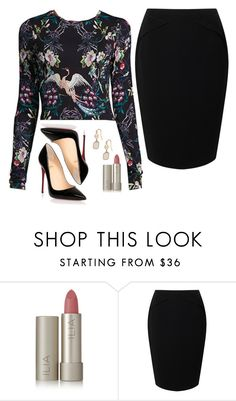 """Felicity Smoak Inspired Outfit"" by daniellakresovic ❤ liked on Polyvore featuring Ilia, Jacques Vert and Christian Louboutin"