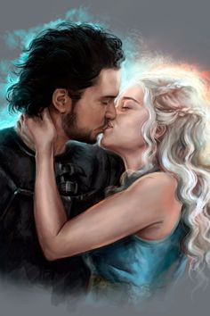 This Sexy Jon Snow and Daenerys Fan Art Proves That They Just Need to Do It Already