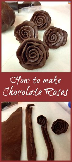 How to make Chocolate Roses- {Easy Modeling Chocolate Tutorial} Cake Decorating Techniques, Cake Decorating Tutorials, Decorating Ideas, Candy Recipes, Dessert Recipes, Desserts, Chocolate Decorations, Icing Decorations, Candy Decorations