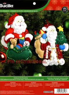 Bucilla Traditional & Old World Santa 2 piece Felt Christmas Ornament Kit #86416. First Released in 2013 ~ Discontinued in 2015 This is a discontinued pattern so please make sure you dont miss the chance to purchase one while there are still a few new ones available This kit was