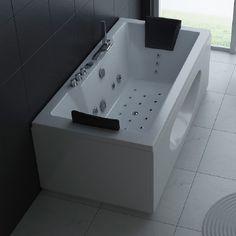 Whirlpool Torino 180x90cm Radios, Bathtub, Indoor, Bathroom, Ad Home, Standing Bath, Interior, Washroom, Bathtubs