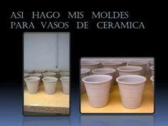 ASI HAGO MIS MOLDES Y VASOS DE CERAMICA - YouTube Ceramica Artistica Ideas, Ceramic Design, Ceramic Pottery, Terracotta, Tea Time, Diy Furniture, Tea Pots, Clay, Diy Crafts