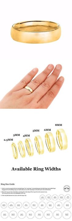 Bands without Stones 92852: 14K Yellow Gold Solid Men S Women S 6Mm Comfort Fit Wedding Band Ring Size 6-12 -> BUY IT NOW ONLY: $175.86 on eBay!