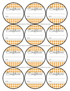 Nostalgic French Jelly Jar Labels in Orange. Printable & Free. | Dimensions of Wonder