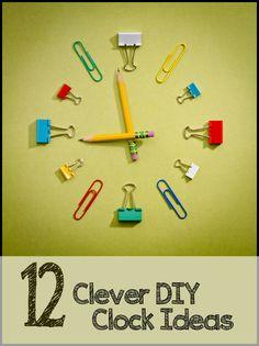 12 DIY Clock Ideas
