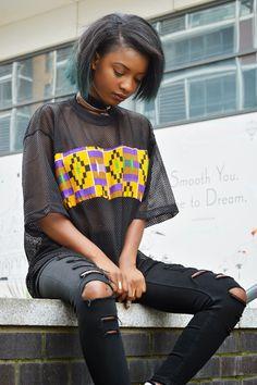 mesh shirt  and ripped denim   fashion   street style inspiration