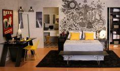 """Equipe Ambientação Etna  Com ilustração de Vitor Rollim, a equipe de arquitetos do Etna aconselham: """"Combine contrastes de cor em seus ambientes, também utilizando pequenos objetos.""""  Home Decor"""
