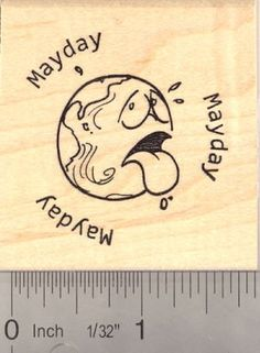 Mayday Earth Rubber Stamp *** Check out the image by visiting the link.