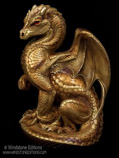 Golden Secret Keeper dragon by Reptangle.deviantart.com on @deviantART