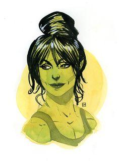 """comic-book-ladies: """" She-Hulk by Kevin Wada """" Marvel Hulk Marvel, Marvel Art, Marvel Comics, Spiderman, Comic Book Characters, Marvel Characters, Comic Books Art, Red She Hulk, Red Hulk"""