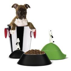 """A smaller bowl for our smaller friends … Alessi presents """"Lulà"""" from designer Miriam Mirri. http://www.yliving.com/alessi-lula-dog-bowl-ammi19.html"""