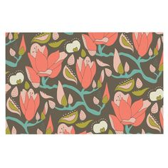 Patterned with a vintage floral print, the KESS InHouse Very Sarie Penelope II Flowers Memory Foam Bath Mat adds a retro touch to bathrooms while. Dog Food Container, Farmhouse Wall Clocks, Faux Fur Throw, Fleece Throw, Iron Wall, 5 D, Memory Foam, Your Dog, Tapestry