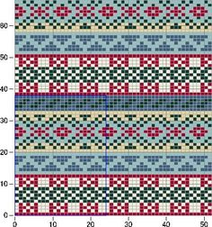 Photo from album Жаккарды 2 on Yandex. Fair Isle Knitting Patterns, Knitting Charts, Knitting Stitches, Knitting Designs, Knit Patterns, Knitting Projects, Cross Stitch Patterns, Motif Fair Isle, Fair Isle Chart