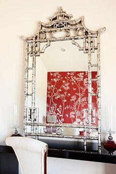 Grand Designs Australia - Love this mirror - Oriental Decor, Decor, Chinoiserie Decorating, Grand Designs Australia, Mirror Decor, Asian Home Decor, Mirror Designs, Chinoiserie, Home Decor