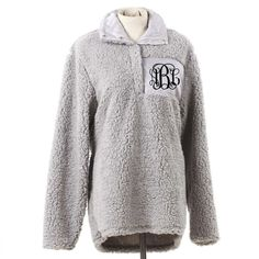 Monogrammed Sherpa Pullover
