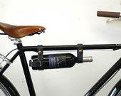 Bicycle Wine Rack Black Leather Bike Bottle Holder by oopsmark Brass Fasteners, Leather Bicycle, Wine Carrier, Thing 1, Gifts For Wine Lovers, Bike Frame, Vintage Bikes, Bottle Holders, Vegetable Tanned Leather