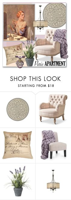 """Paris Apartment"" by stephlo-1 ❤ liked on Polyvore featuring interior, interiors, interior design, home, home decor, interior decorating, Safavieh, Pillow Decor, OKA and Fredrick Ramond"