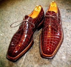 Alligator leather shoes, crocodile shoes for men, best leather dress shoes