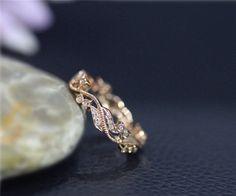 Jahrgang echte Diamanten Ehering voller Ewigkeit fest von NidaRings