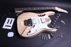 Build Your Own Electric Guitar Kit  JEM Style by BYOGuitar on Etsy