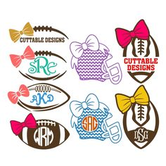 Football Bow Cuttable Frame Cut File. Vector, Clipart, Digital Scrapbooking Download, Available in JPEG, PDF, EPS, DXF and SVG. Works with Cricut, Design Space, Cuts A Lot, Make the Cut!, Inkscape, CorelDraw, Adobe Illustrator, Silhouette Cameo, Brother ScanNCut and other software.