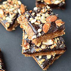 Almost Raw Blondie Brownies. Recipe by @acaspero on @healthyaperture