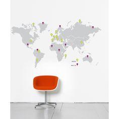 Sticker traveller Map