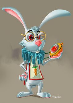 Pet Pals 5 Color Concept by David Sossella, via Behance Alice Rabbit, Rabbit Art, Cartoon Drawings, Cute Drawings, Alice In Wonderland Costume, 3d Mesh, Cute Dinosaur, Colorful Wall Art, Cute Animal Pictures