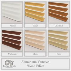 Wood Effect Venetian Blinds. Perfect for your kitchen/bathroom where humidity is high. Easy to clean and will not warp in the heat. Office Blinds, Venetian, Butler, Make It Simple, Home Improvement, Cleaning, Inspirational, Bathroom, Wood
