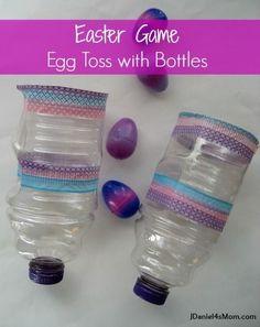 Easter Eggs and Egg Toss Catchers