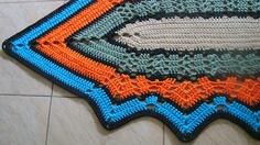 Tapete de Crochet com Fio de Malha ou Trapilhos (Crochet Rag Rug): Ponto Ripple ou ZigZag