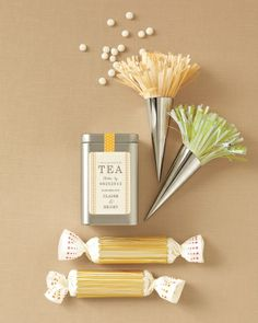 Tea Time and Dotted Candy Wrapped Favors