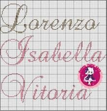 Risultati immagini per nomes em ponto cruz Cross Stitch, Bullet Journal, Julia, Stitching, Image, Ballerina Silhouette, Monograms, Flower, Names