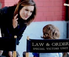 Mariska brought her son August to work with her