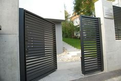 Linea aluminium fence. www.aludom.pl | modern fences - nowoczesne ...