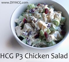 Cranberry, Celery, Chicken Salad Recipe for phase 3 of the HCG diet... yum!