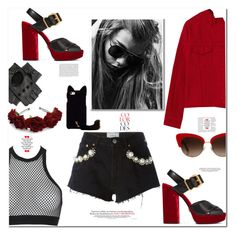 """""""Stay classy, be sassy"""" by curlysuebabydoll ❤ liked on Polyvore featuring Forte Couture, Prada, Dsquared2, Dolce&Gabbana, Black and polyvoreeditorial"""
