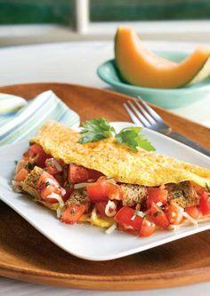 Omelet de tomate y ajo by www.vinosyrecetas.com
