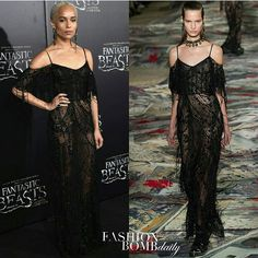 "Hot! Or Hmm...: @ZoeIsabellaKravitz attended the ""Fantastic Beasts And Where To Find Them"" NYC premiere wearing a chic black lace gown from @AlexanderMcQueen's Spring 2017 collection. Are you feeling her look? #fashionbombdaily #instastyle #instafashion #celebritystyle #zoekravitz #fashion #alexandermcqueen #fashion #style #realstyle"
