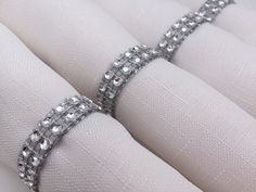 Wedding Napkin Rings: Wedding Table Decor, Diamante Napkin Rings, Diamante Napkin Holder