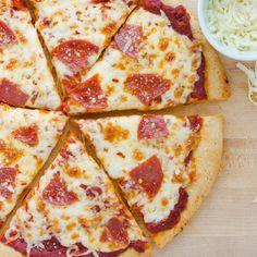 Pizza Sin Gluten, Dairy Free Pizza, Gluten Free Pizza Crust Recipe Easy, Gluten Free Recipes For Kids, Gluten Free Dinner, Gluten Free Flour, Gluten Free Baking, Sem Lactose, Kids Meals