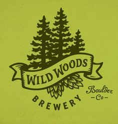Wild Woods Brewery logo designed by Sunday Lounge.