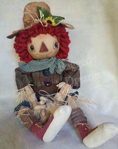 Raggedy Dreams: Annie Sunflower Scarecrow