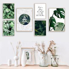 Smarter Shopping, Better Living! Aliexpress.com Green Wall Decor, Wall Art Decor, Plant Painting, Painting Art, Types Of Art Styles, Wall Frame Set, Nordic Art, Rooms Home Decor, Room Decor