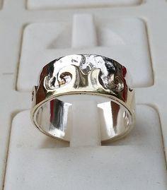 Silver And Gold Wedding Ring Handmade Wedding Band by TalyaDesign