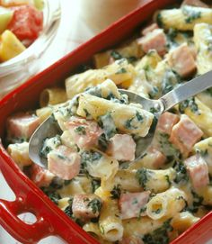 Ham and Rigatoni Casserole - Here's a great recipe for your leftover holiday ham or just grab a ham steak for something different for a quick dinner!